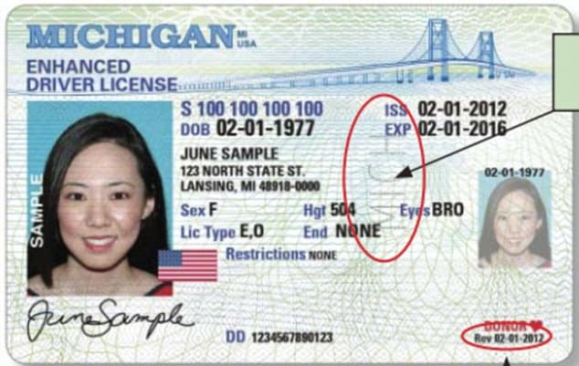 Alcohol Ignition Interlock >> How to Spot a Fake Driver's License in Michigan